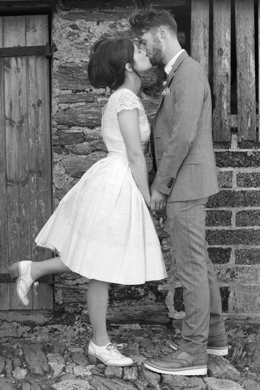 Wedding Bride and Groom Entering Bristol Register Office