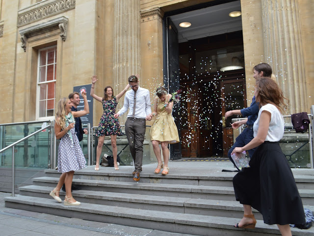 Wedding Outside Bristol Registery Office Confetti
