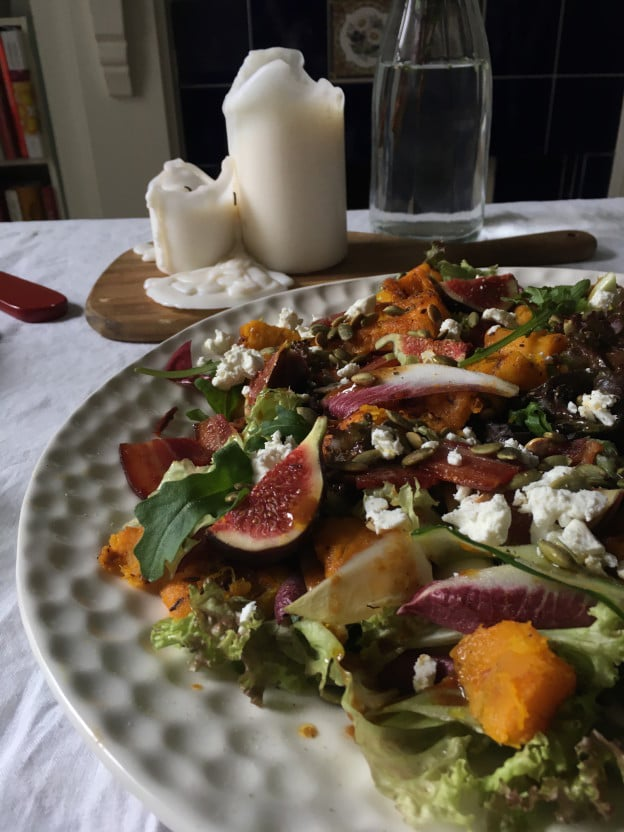 Pumpkin Salad with Fig & Goats' Cheese