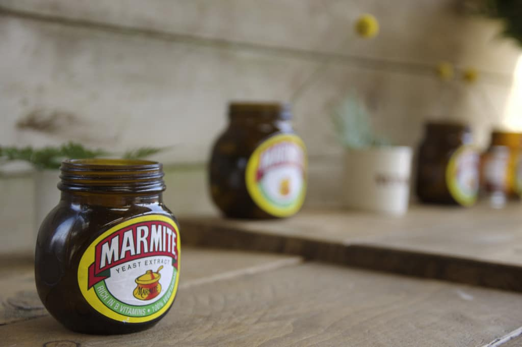 wedding-reading-vows-marmite-jars