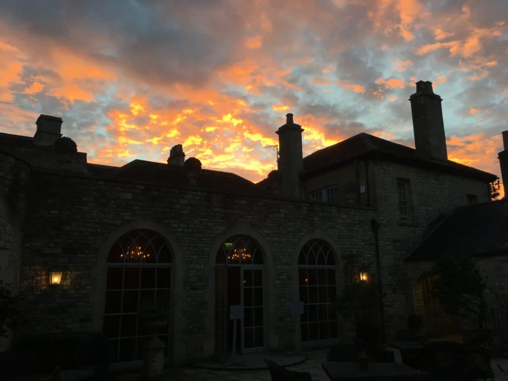The Pig near Bath, sunset