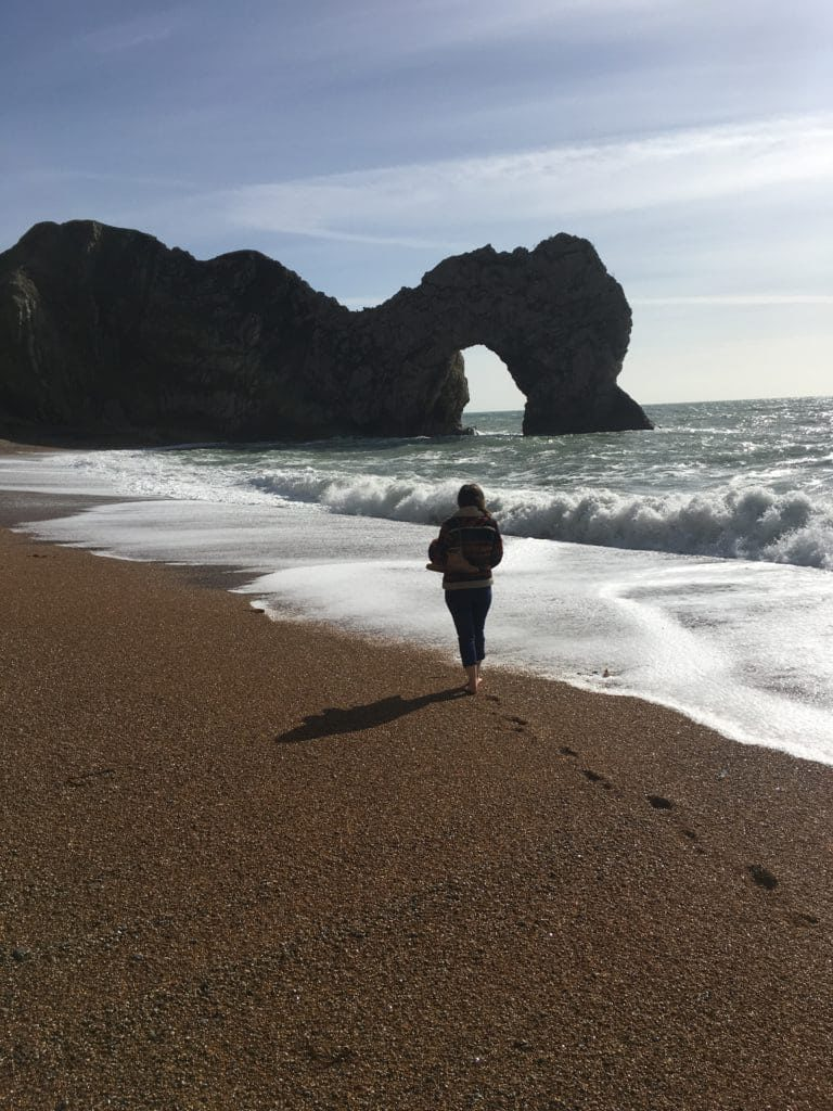 Durdle Door Walking Away